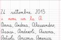 martedì 24 settembre - I nomi con la A (Italiano)
