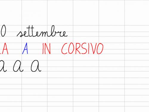 Venerdì 20 settembre – La A in corsivo maiuscolo
