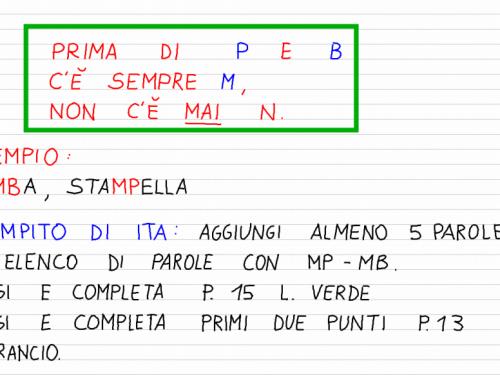 Venerdì 27 settembre – MB e MP (italiano)