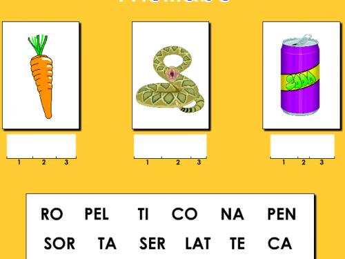Giochiamo con le trisillabe