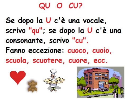 Mercoledì 5 Febbraio 2014: ortografia (parole capricciose) e grammatica (nomi comuni e propri) – Italiano