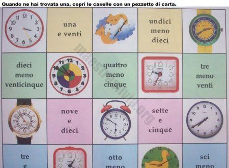 Giochi con l'orologio: schede da stampare (Storia)