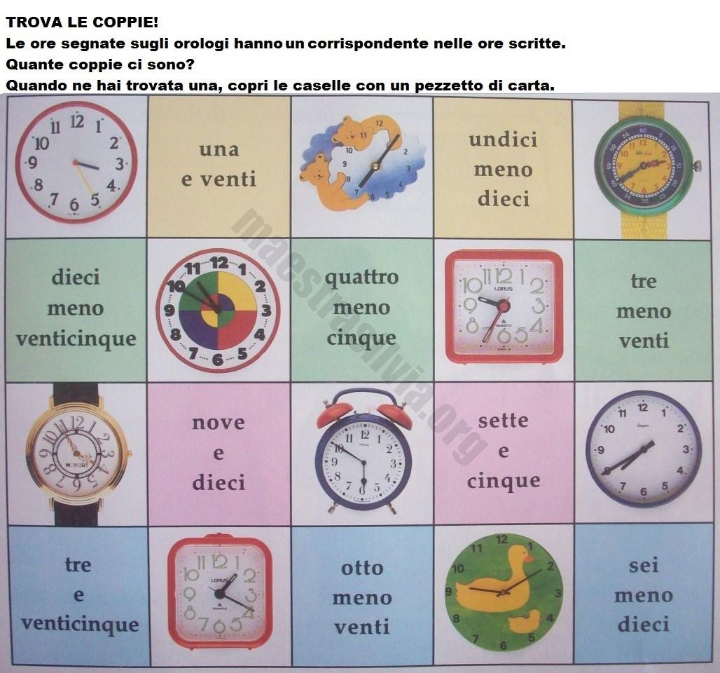 giochi didattici con l orologio