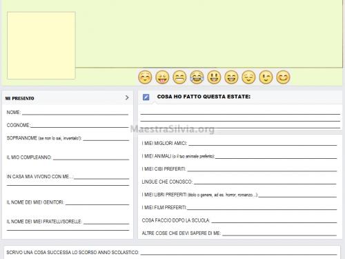 """Scheda conoscenza """"Facebook school"""" :)"""