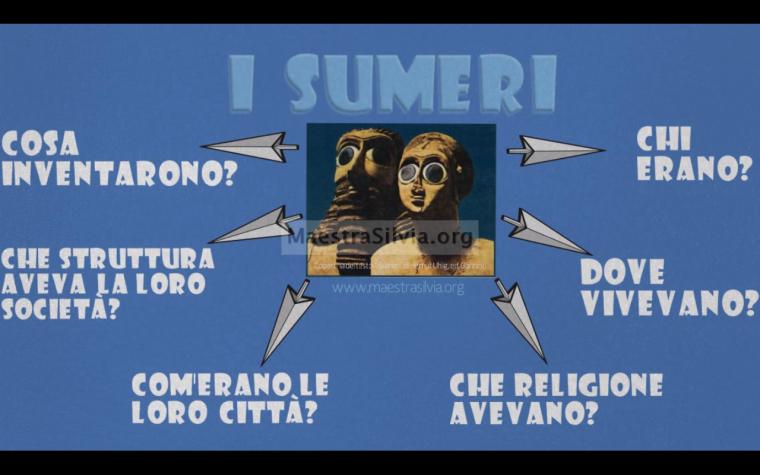 Video-mappa riassuntiva sui Sumeri