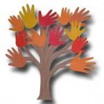 autunno albero mani