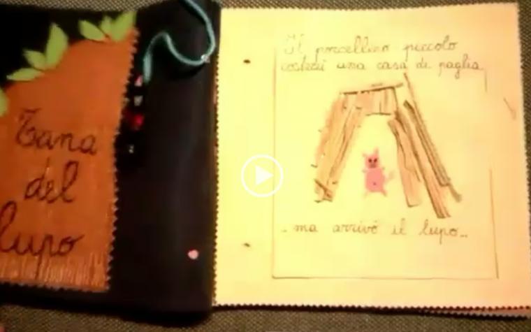 I tre porcellini – libro sensoriale per Gaia