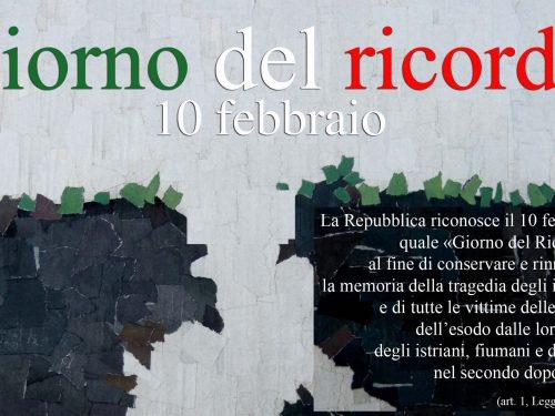 Giornata del ricordo in memoria delle vittime delle foibe